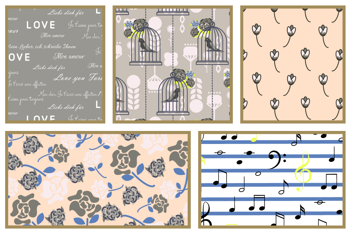 Love Letters Seamless Patterns example image 3