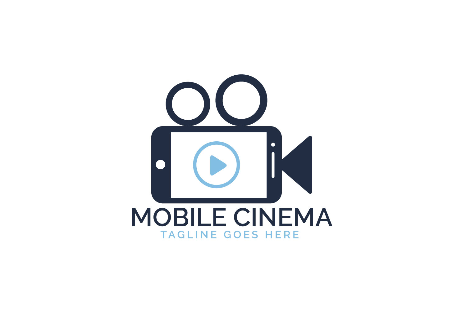 Mobile Cinema Logo Design. example image 1