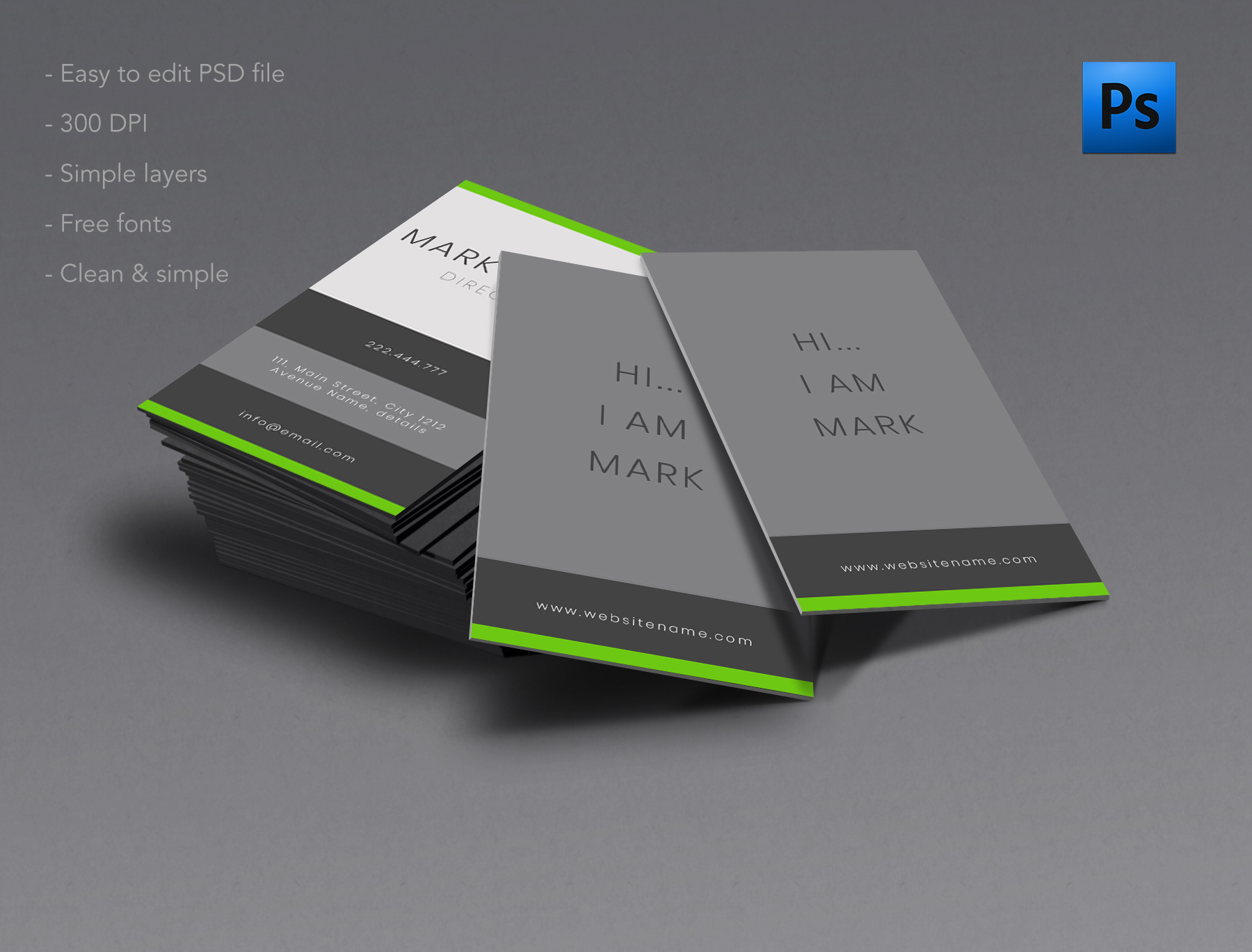 Clean and Simple business card example image 1
