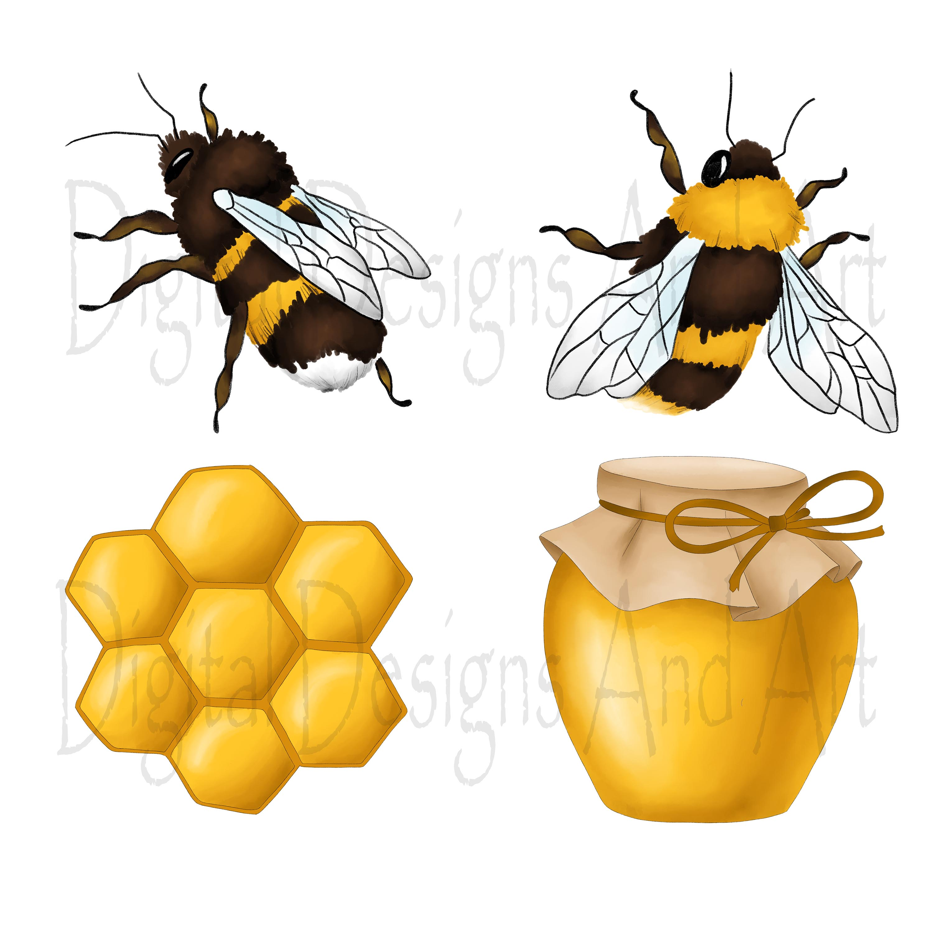 Honey bee clipart example image 2