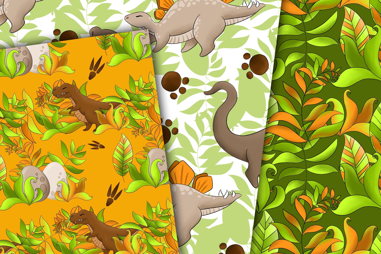 Dinosaur digital paper example image 4