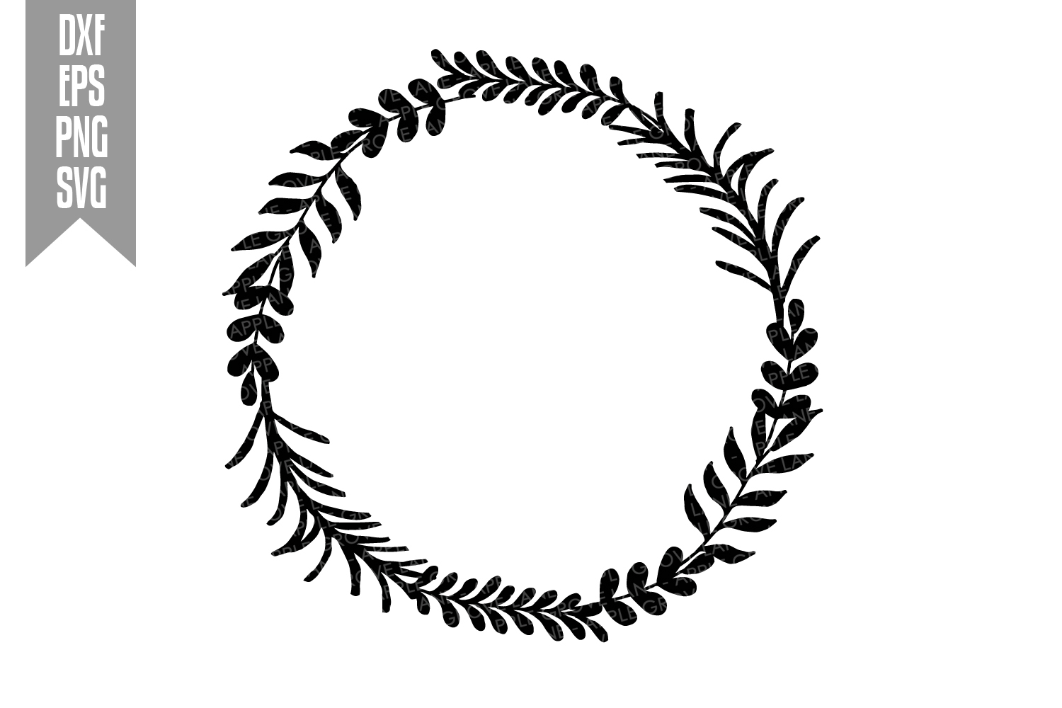 Wreath Svg Bundle - 6 designs included - Svg Cut Files example image 4
