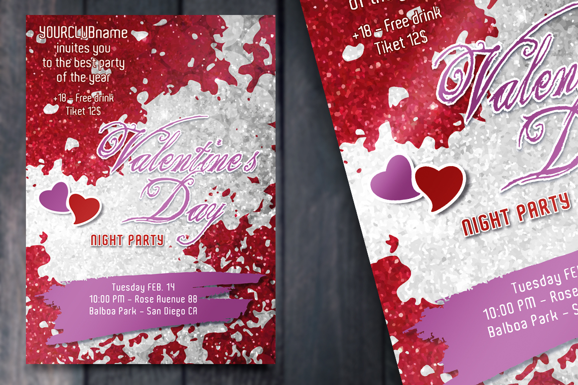 Valentine's Day Party - Invite card example image 2