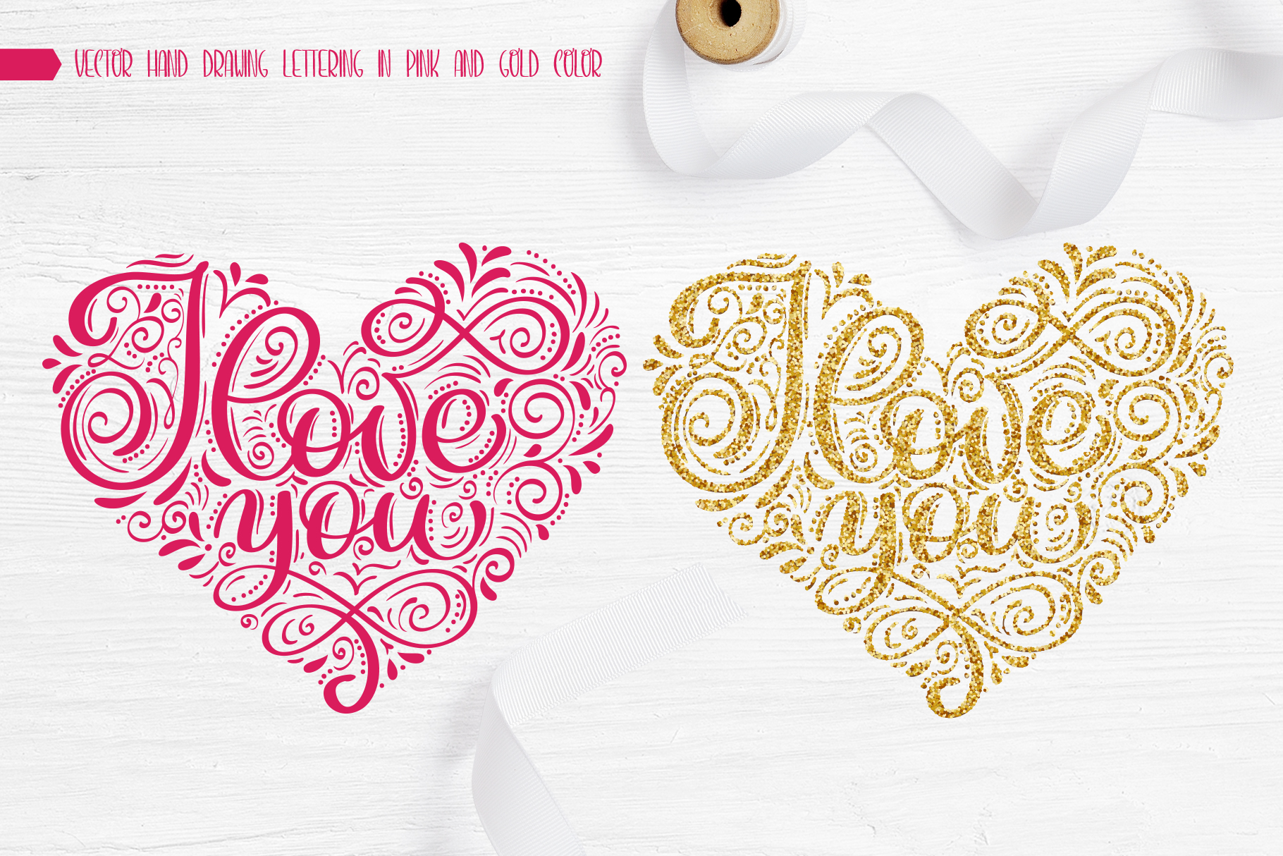 I Love You Vector Valentine Quote SVG example image 6