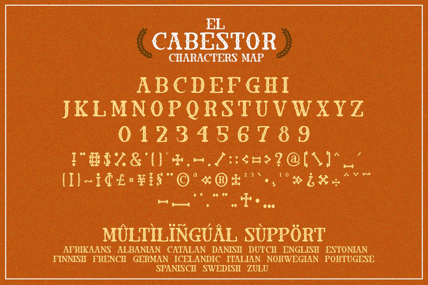 El Cabestor - Vintage Display Typeface & EXTRA example image 6