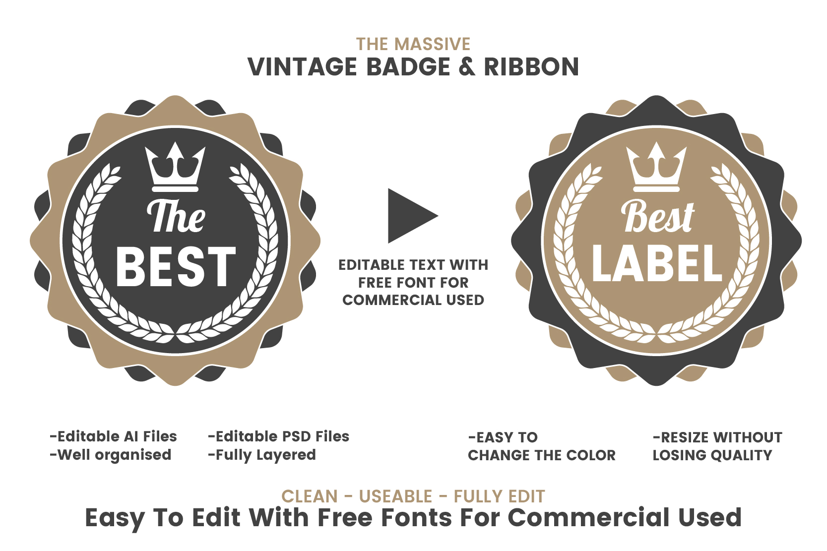 36 VINTAGE BADGE & RIBBON Vol.6 example image 3