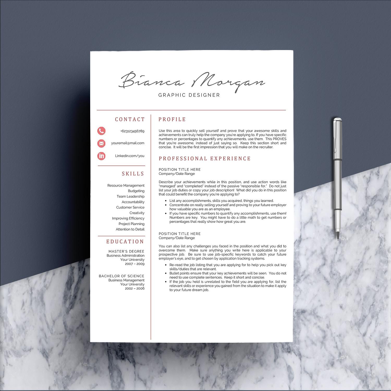 Creative Word Resume Template CV example image 2