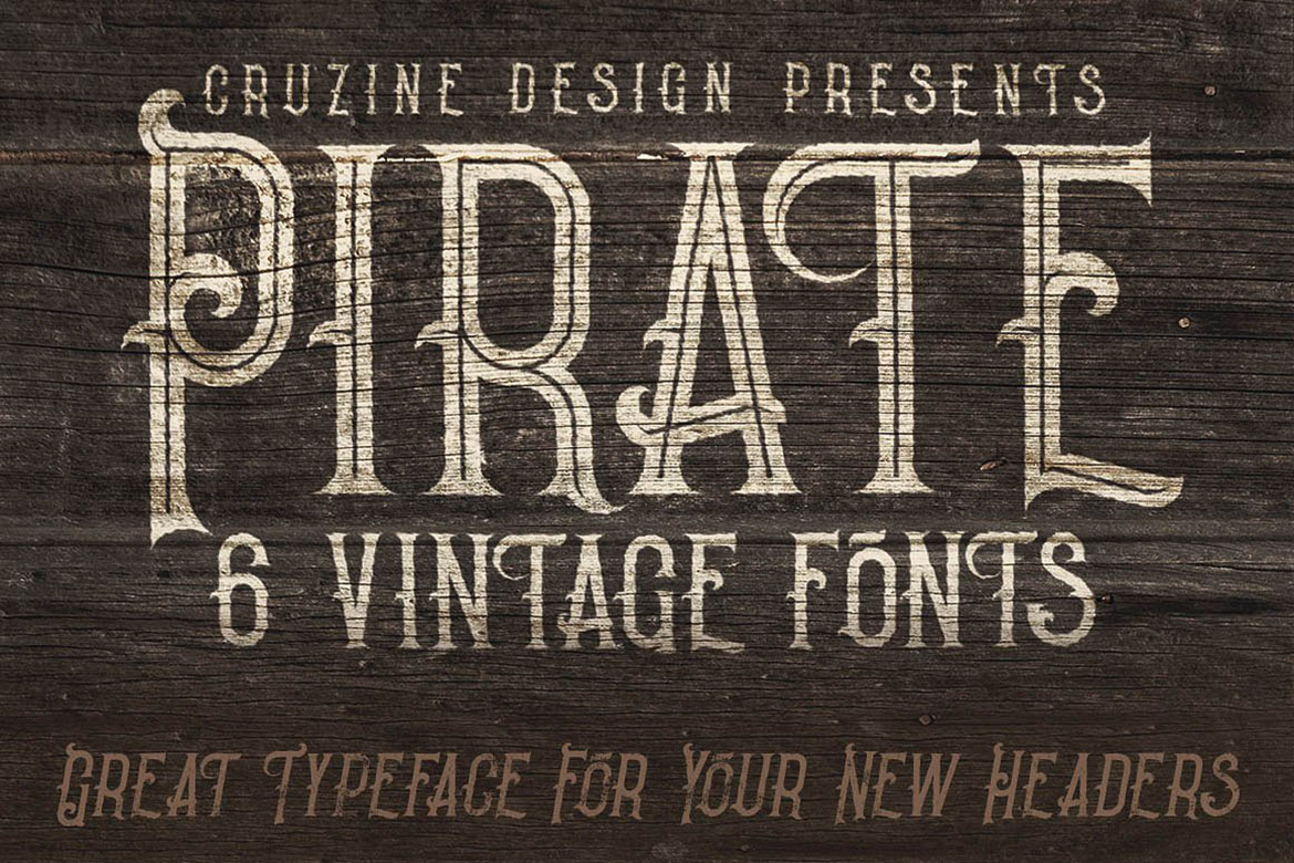 Pirate- Vintage Style Font example image 4