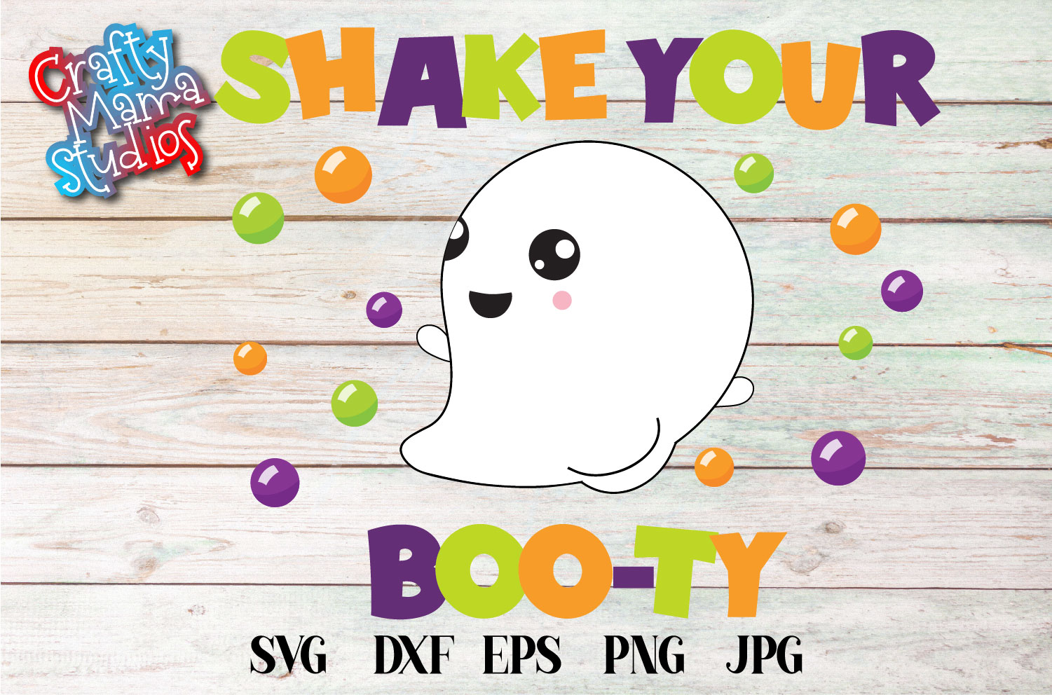 Shake Your Booty SVG Sublimation, Halloween Ghost SVG example image 2
