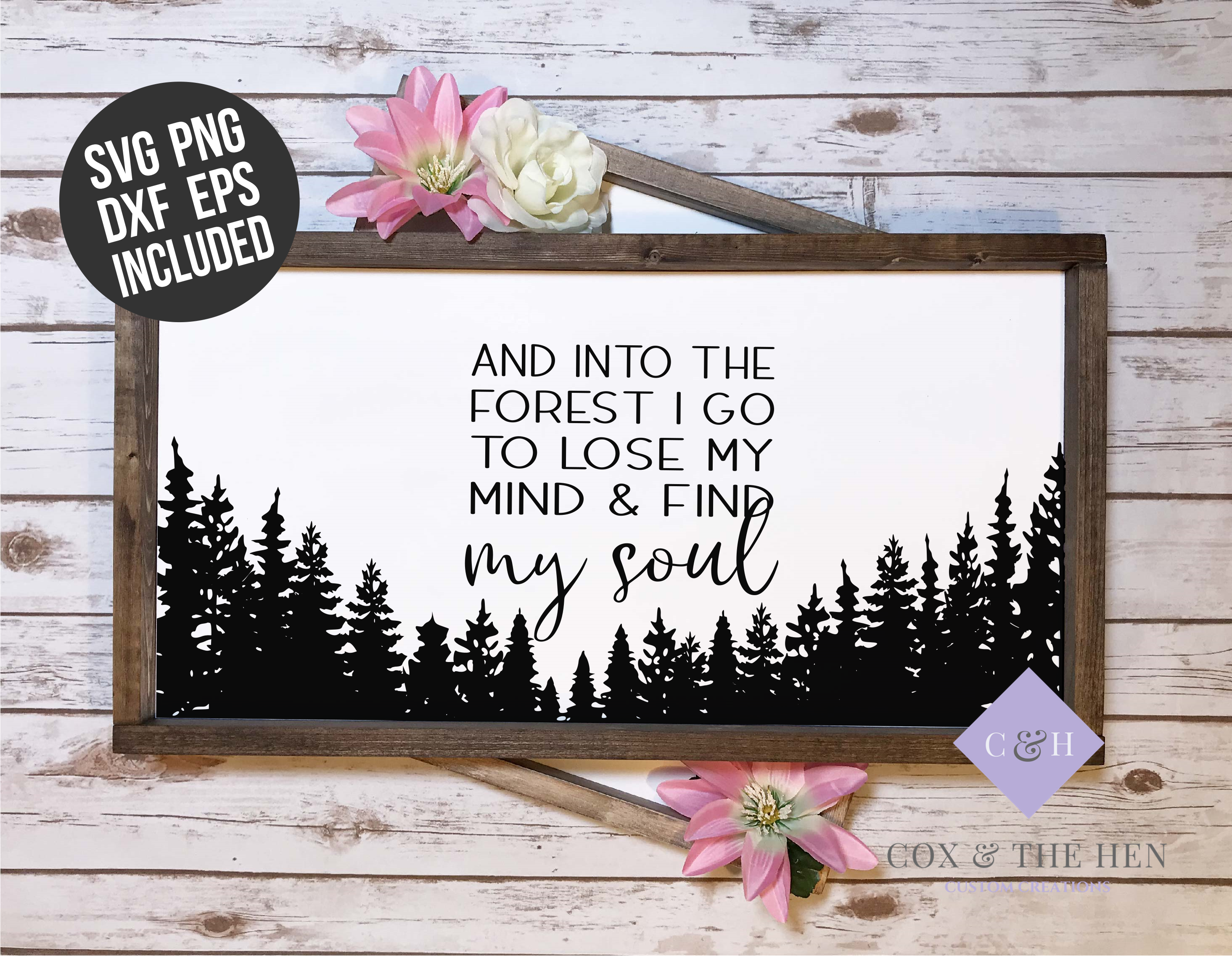 Find my Soul Forest Wood Sign Stencil SVG example image 2