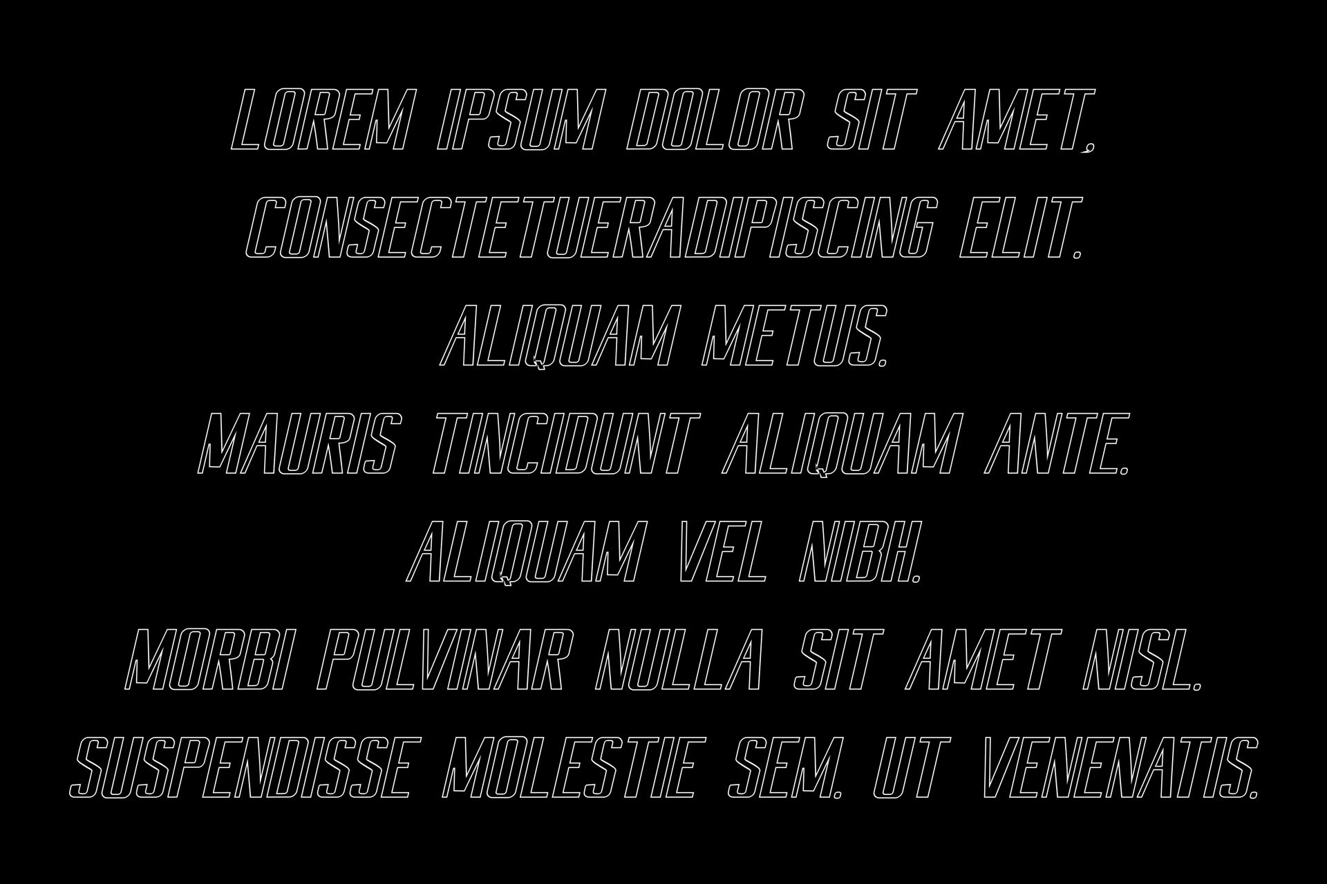 Harsa Outline Italic example image 2
