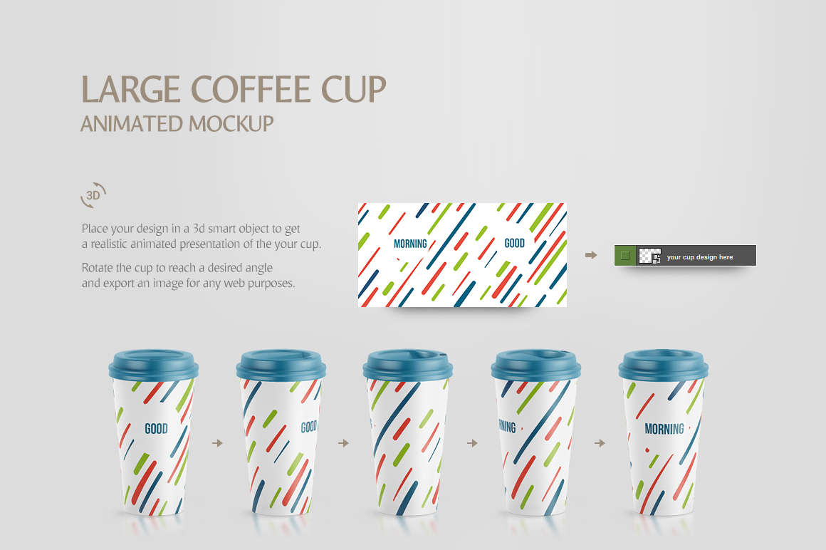 Large Coffee Cup Animated Mockup example image 6