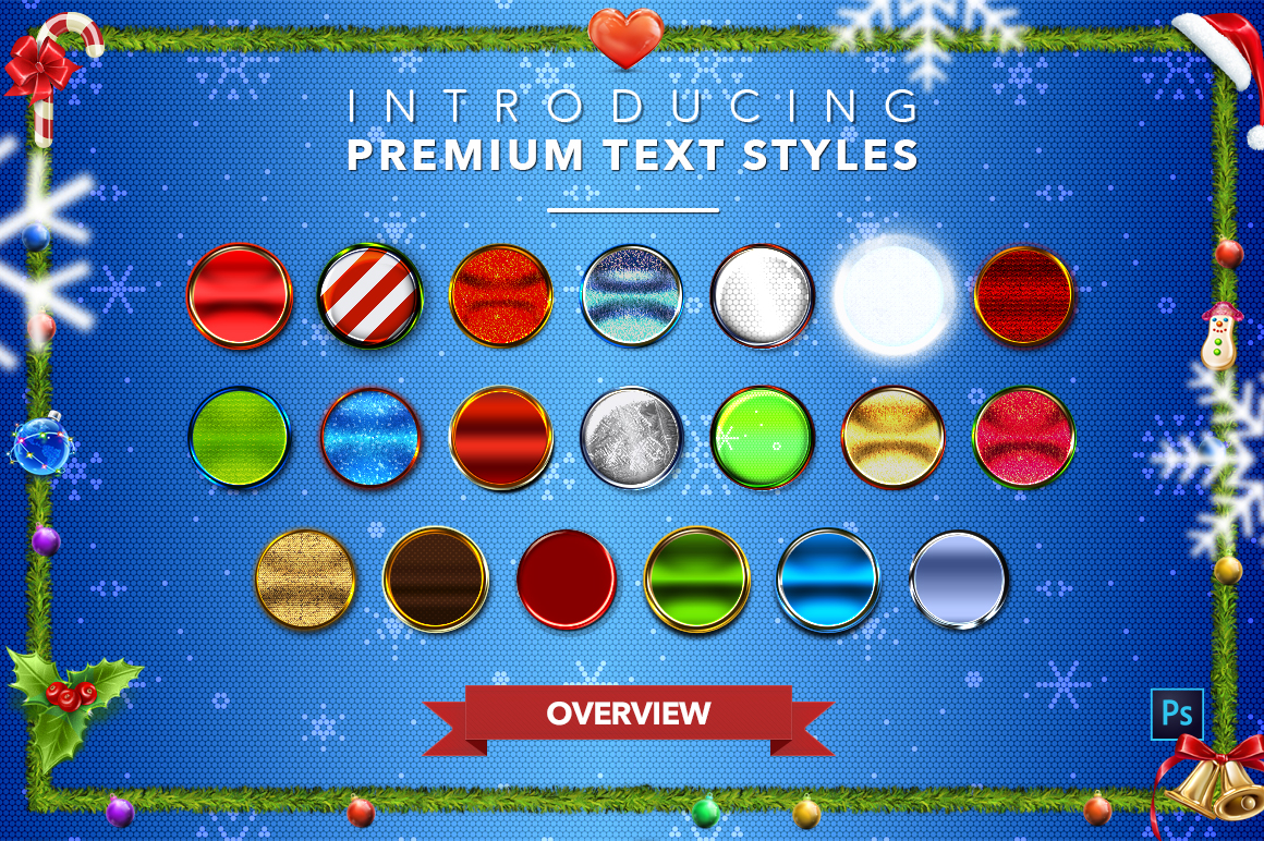 Christmas Pack #2 - 20 Text Styles example image 23