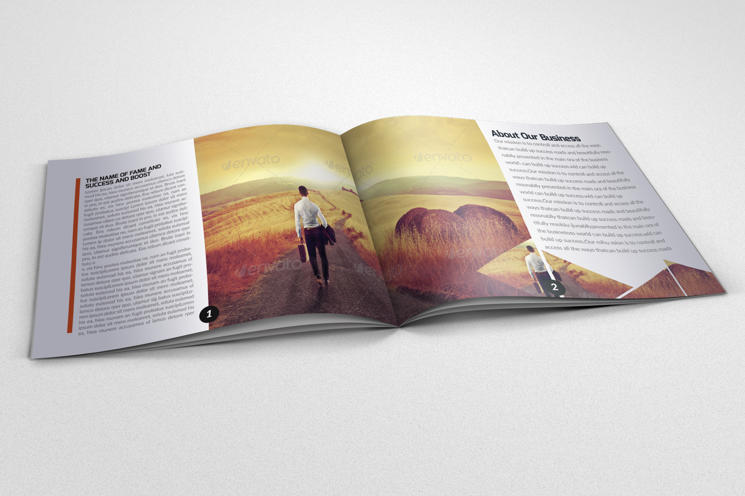 20 Pages Catalogue Business Bifold Brochure example image 3