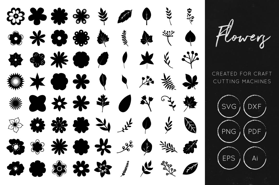 Download Vector Flower Collection - Layered Flowers SVG Cut Files
