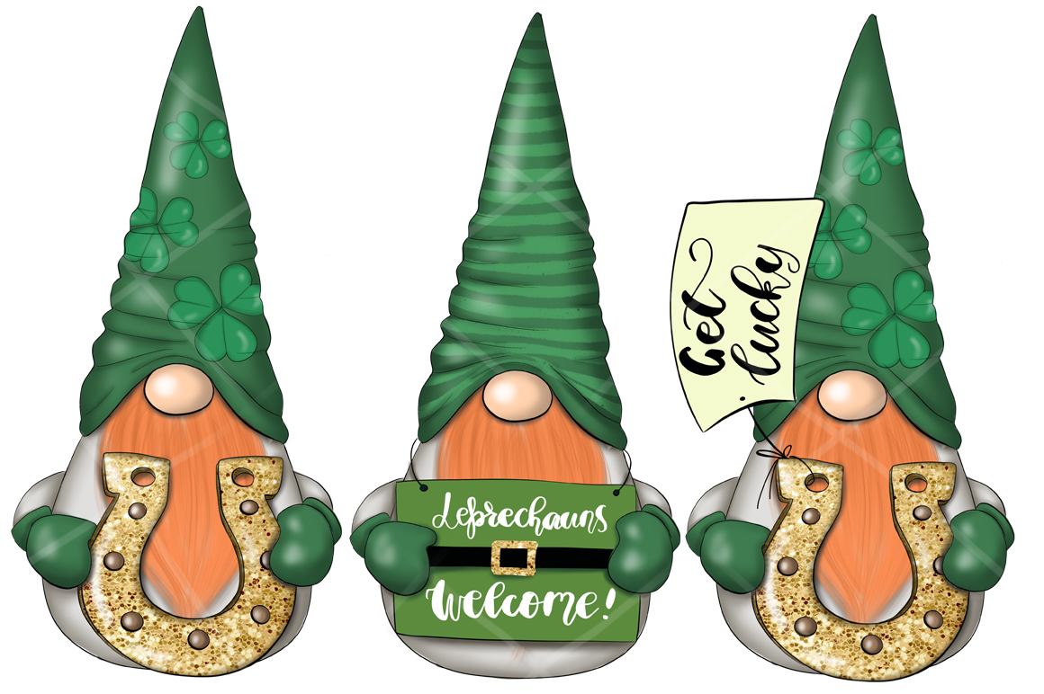 St. Patricks Gnomes Icons & Pattern example image 5