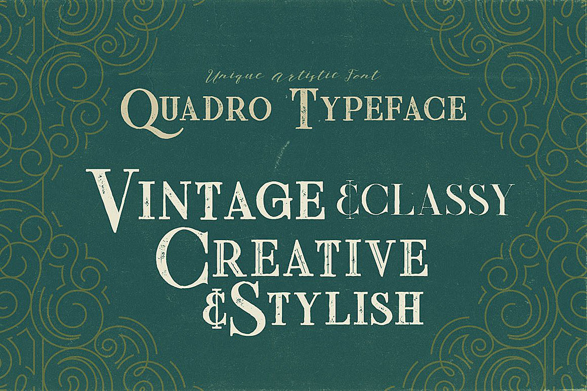Quadro - Display Font example image 3