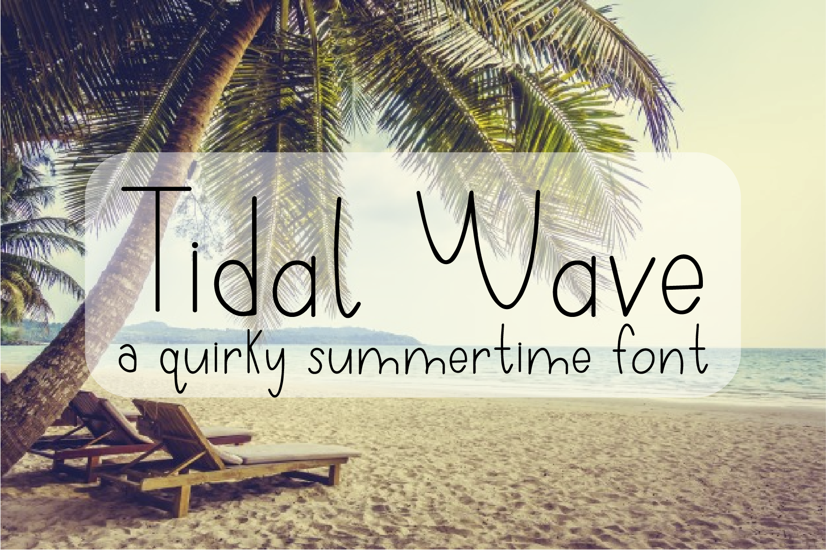 Tidal Wave - A Quirky Hand-Written Font example image 1