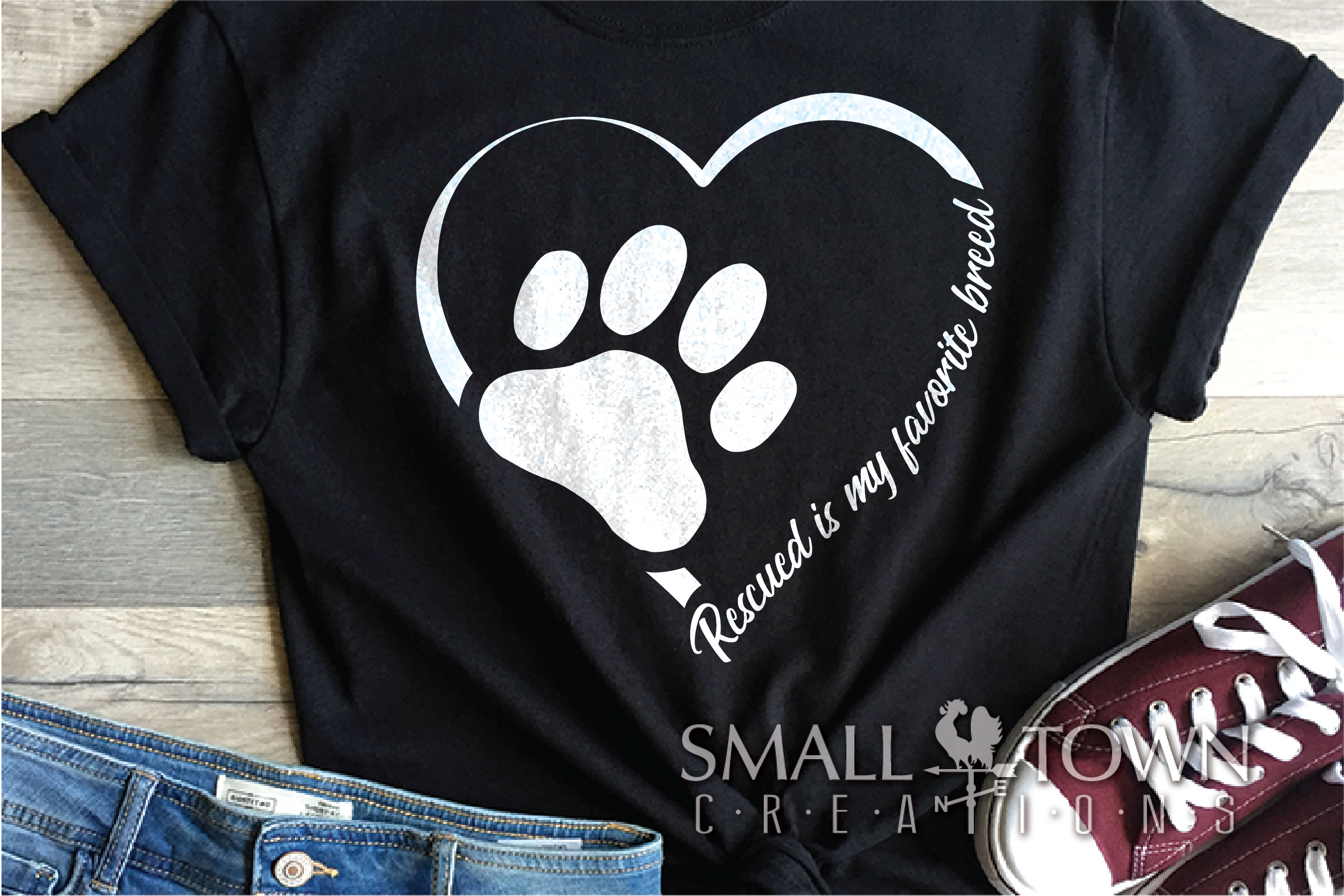 Rescued Cat, Adopted Cat, Cat breed, PRINT, CUT & DESIGN example image 1