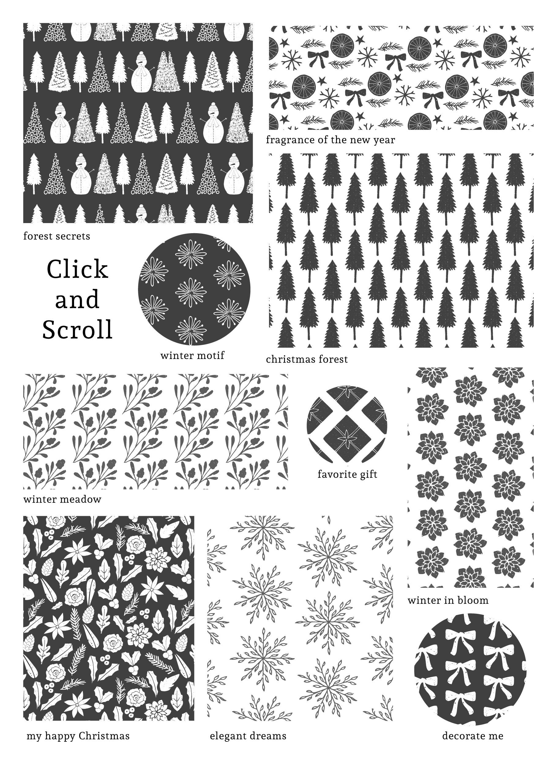Scandinavian Christmas Patterns example image 7