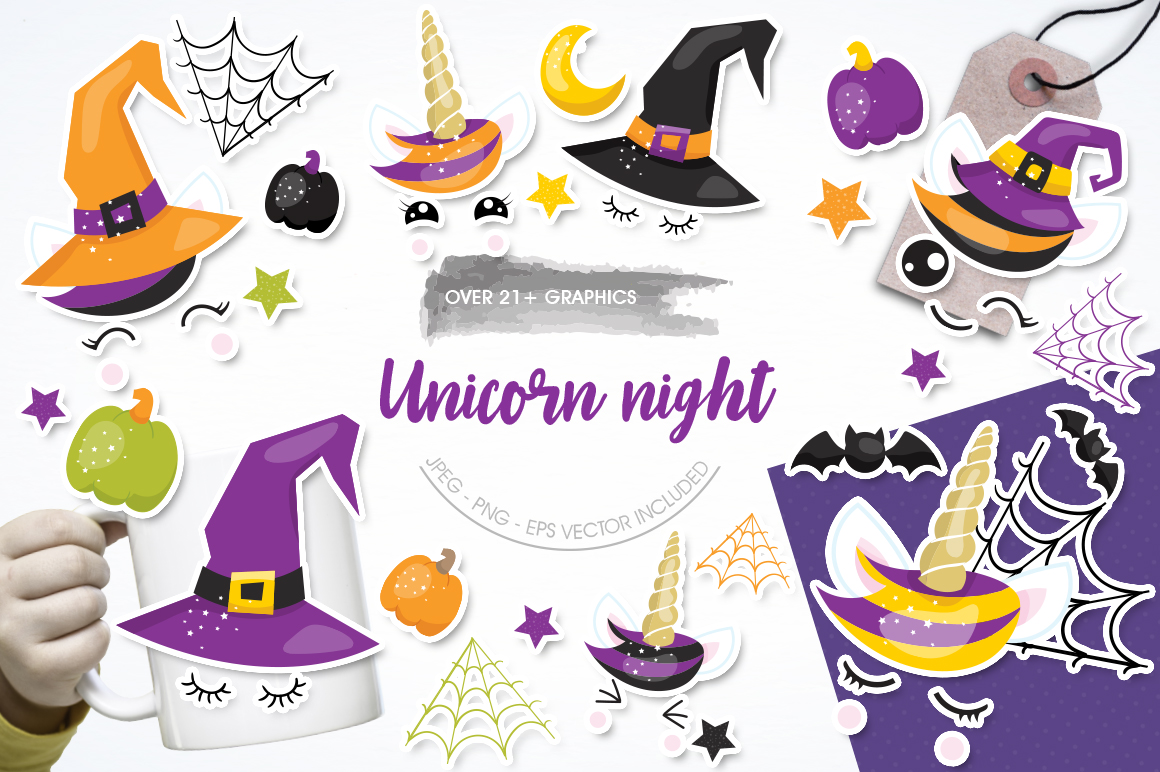 Unicorn Night graphic and illustrations example image 1