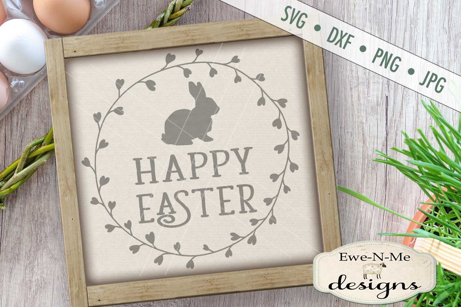 Easter Cottontail Bundle Easter Bunny Rabbit SVG DXF Files example image 7
