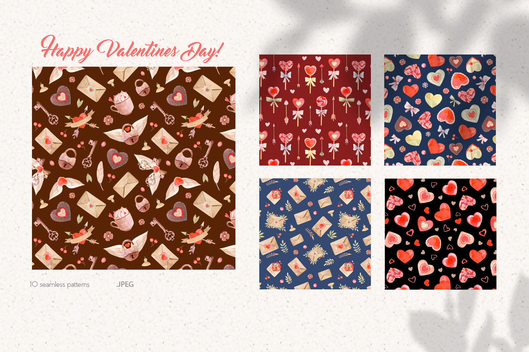 Valentines Day Seamless Patterns example image 8