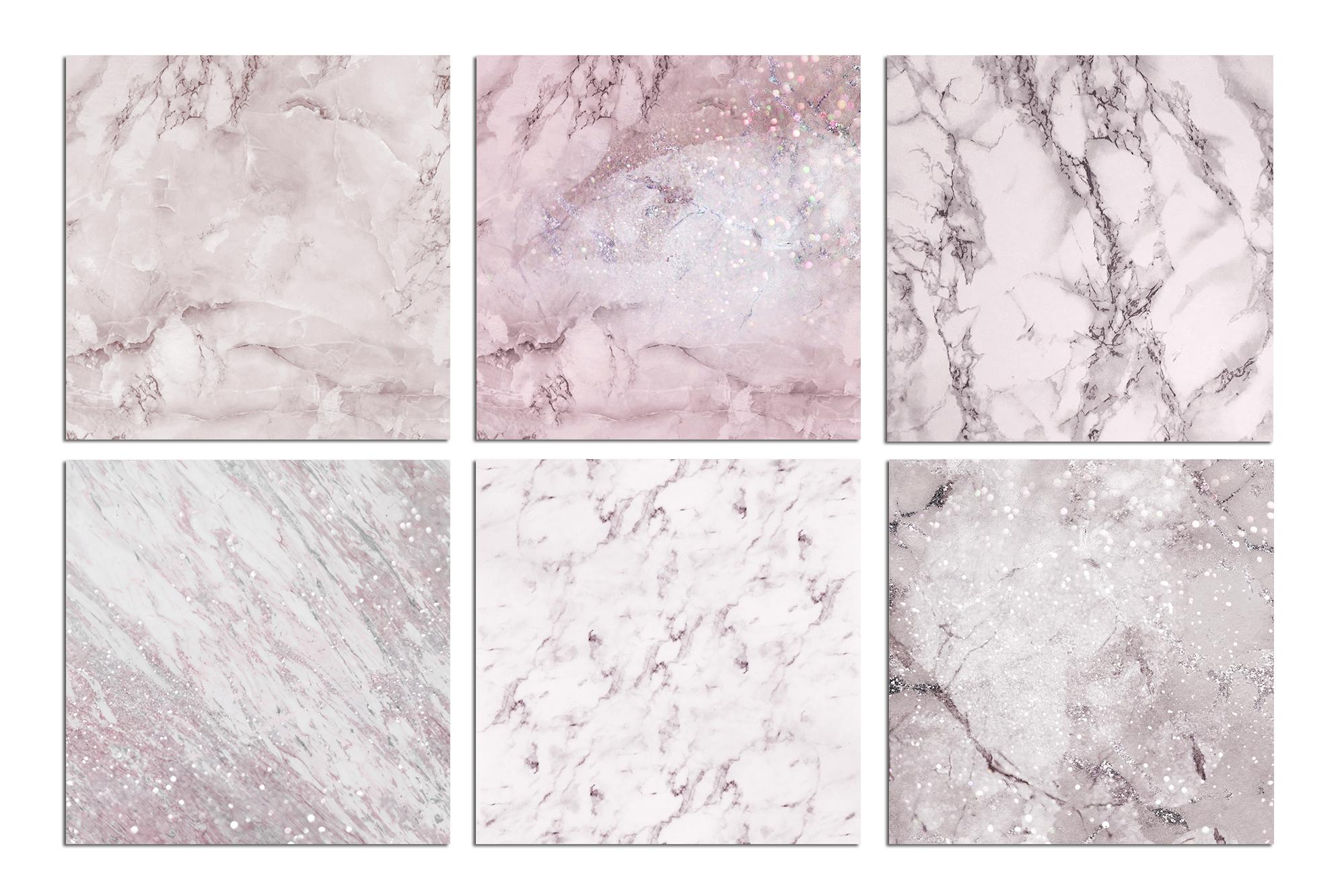 Rose Marble Digital Paper BUNDLE example image 5