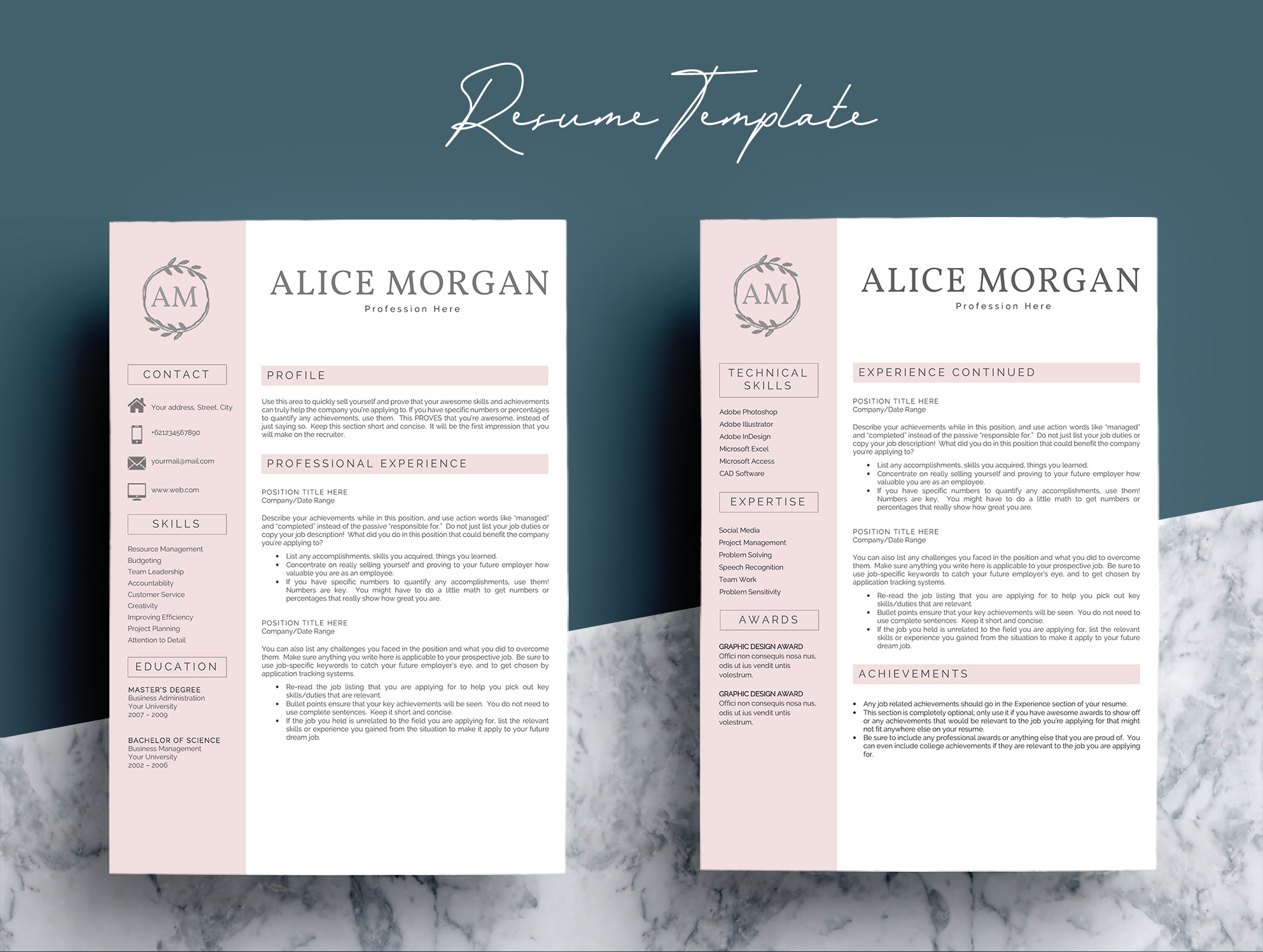 Professional Creative Resume Template - Alice Morgan example image 4