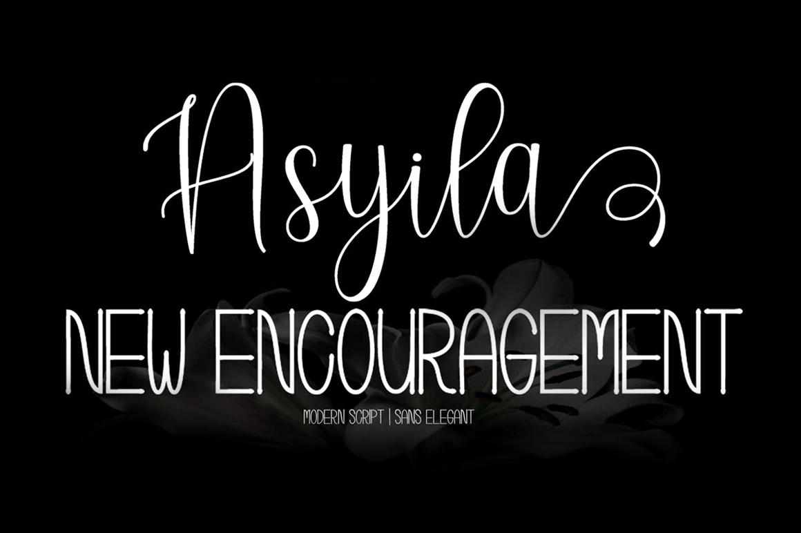Asyila Font Duo example image 1
