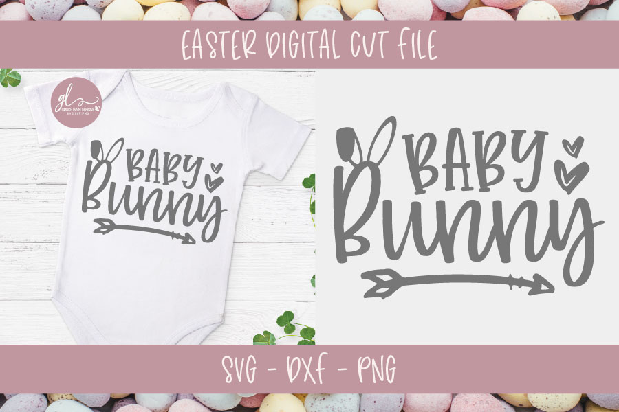 Baby Bunny - Easter SVG Cut File example image 1