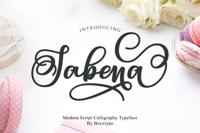 Sabena Script | Sweet Font example image 1