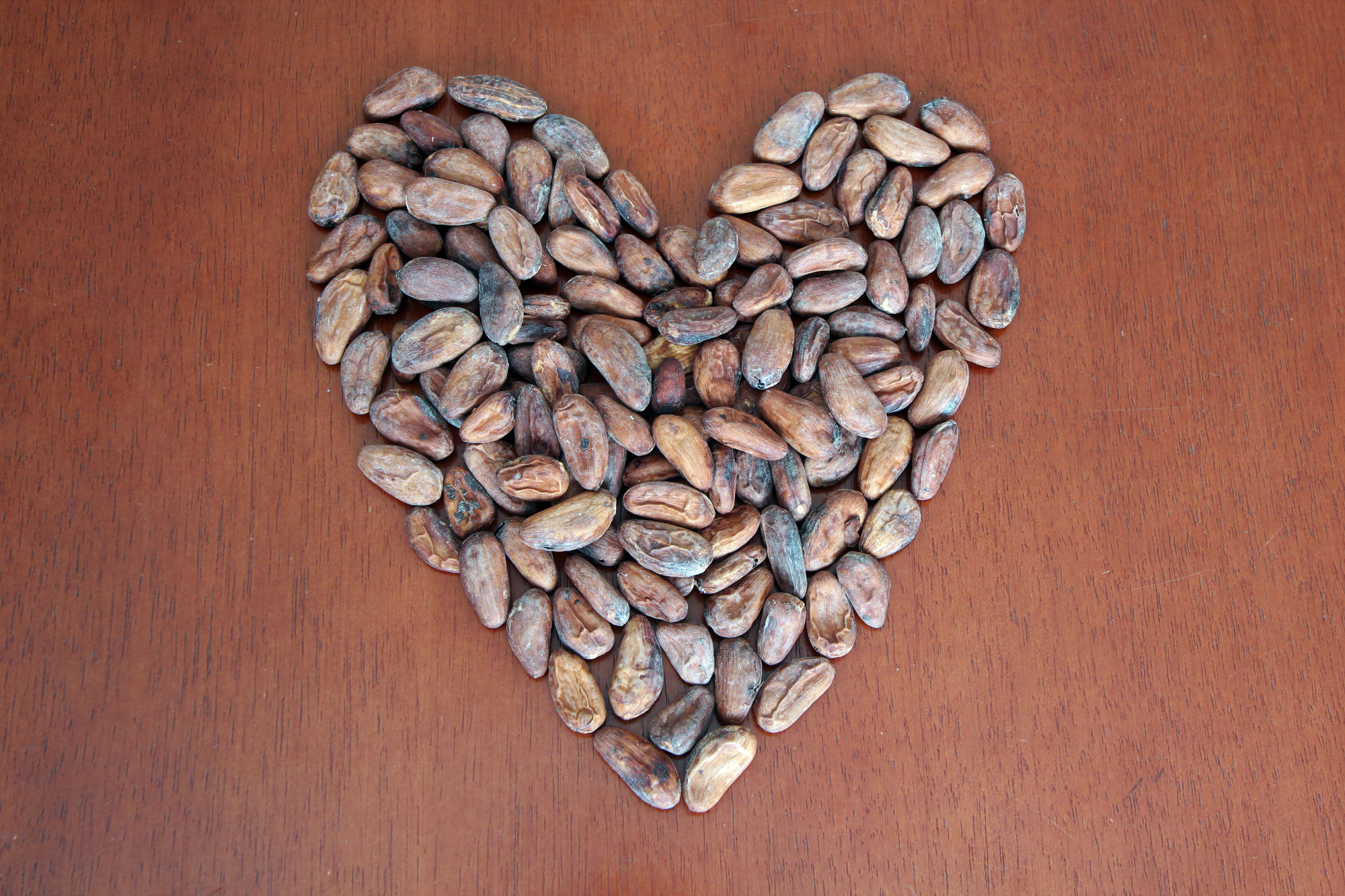 Cacao Beans in Heart Format example image 1