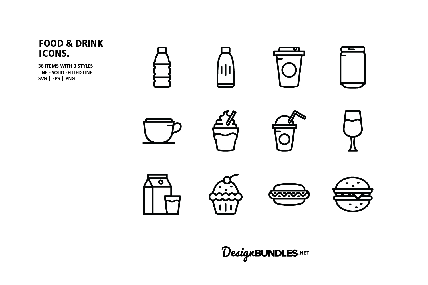 Food and Drink Icons example image 2