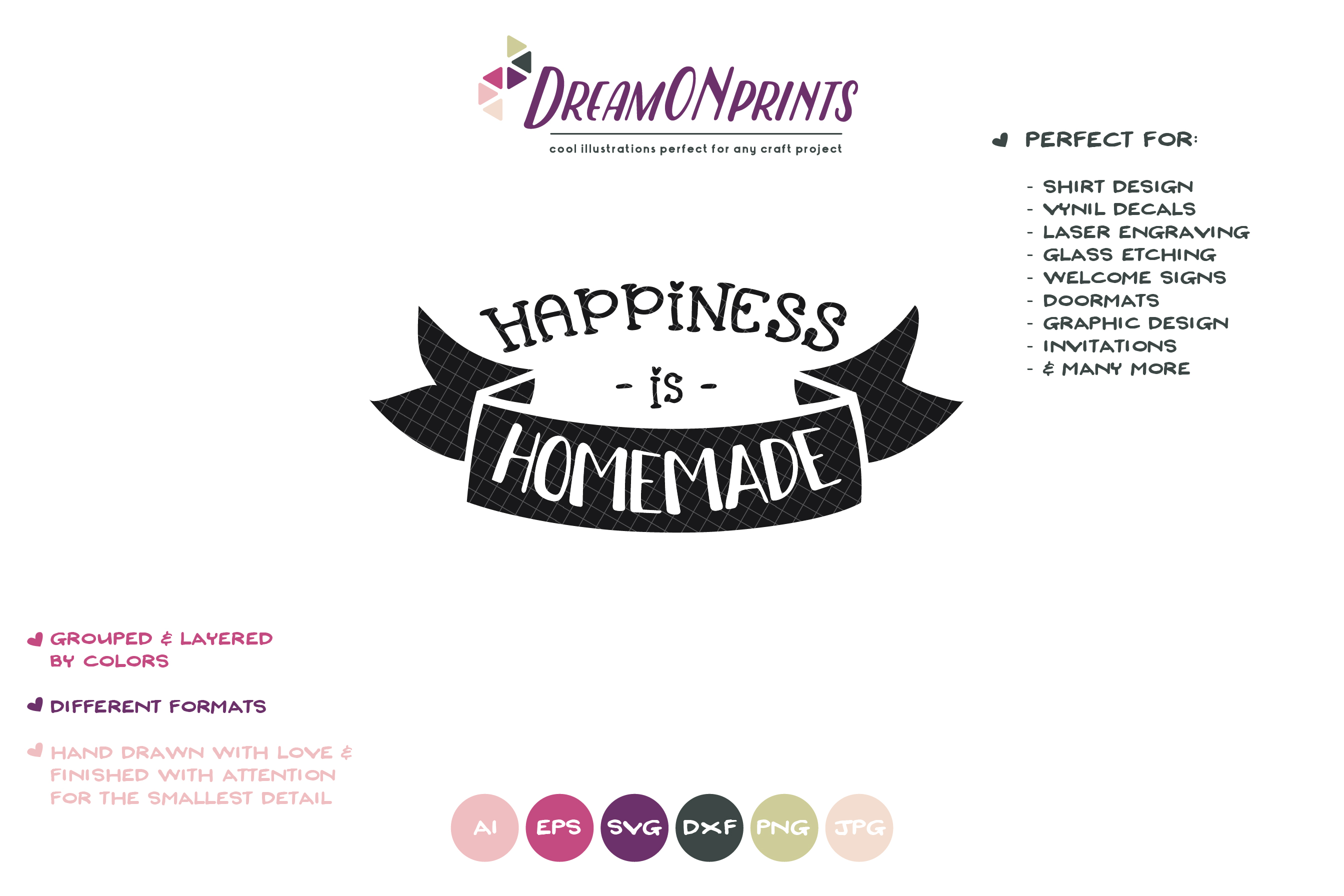 Happiness is Homemade SVG - Kitchen SVG Cut Files example image 2