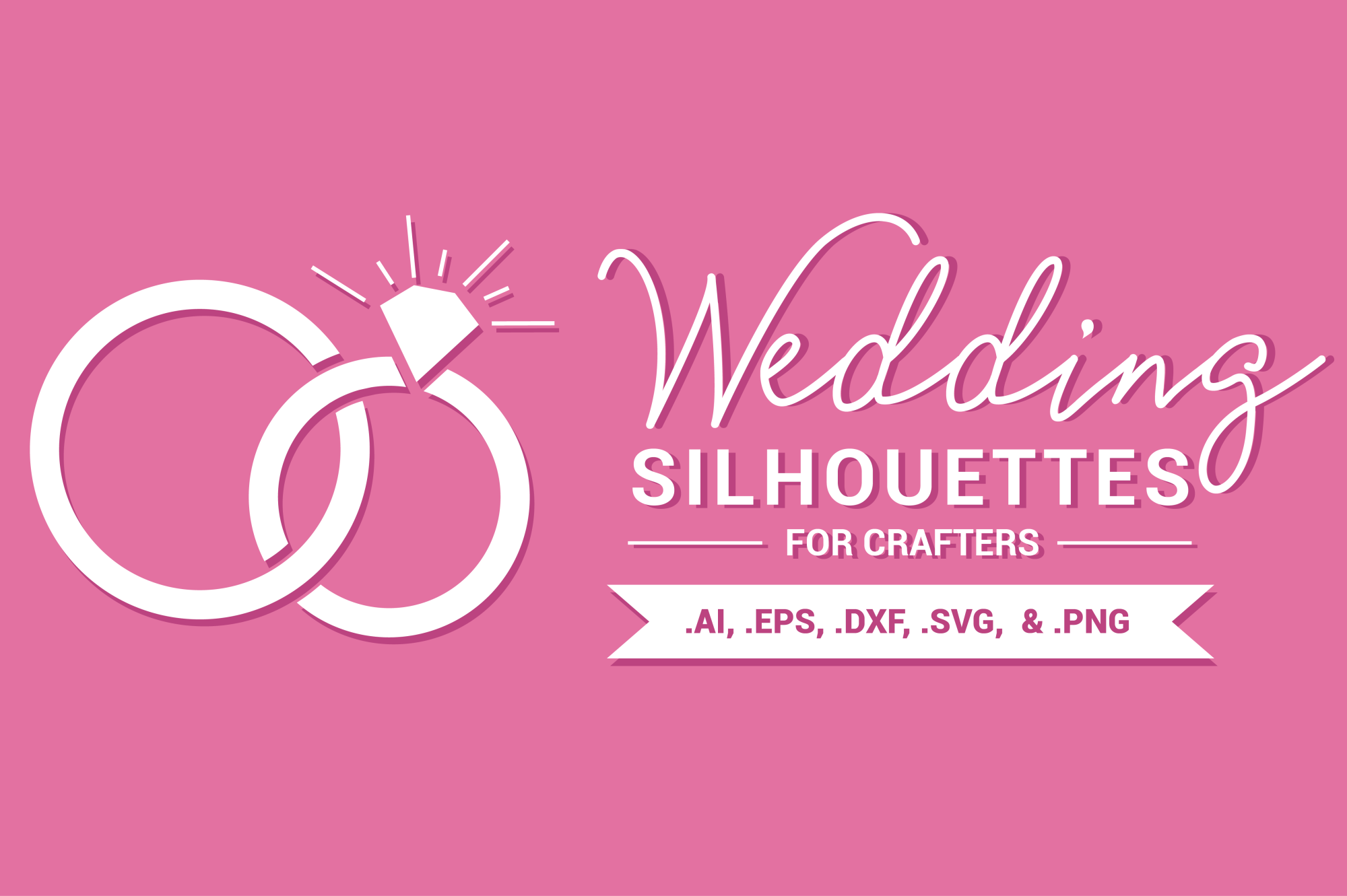 Wedding Silhouettes for Crafters example image 1
