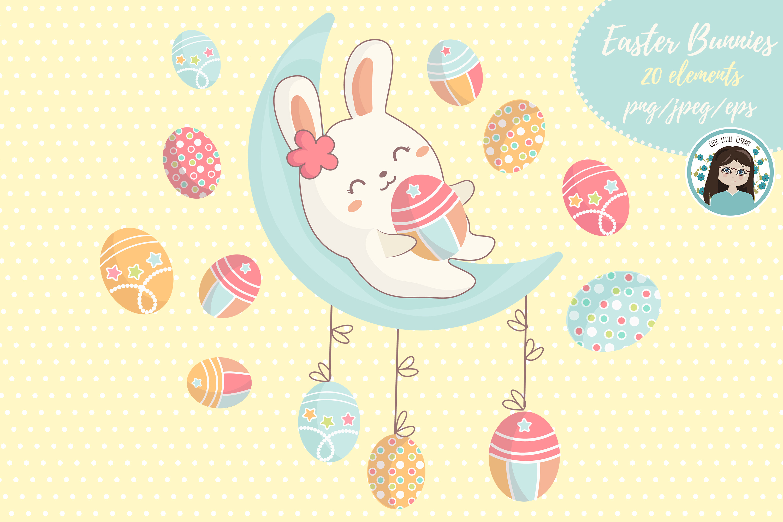 Cute kawaii bunnies example image 2