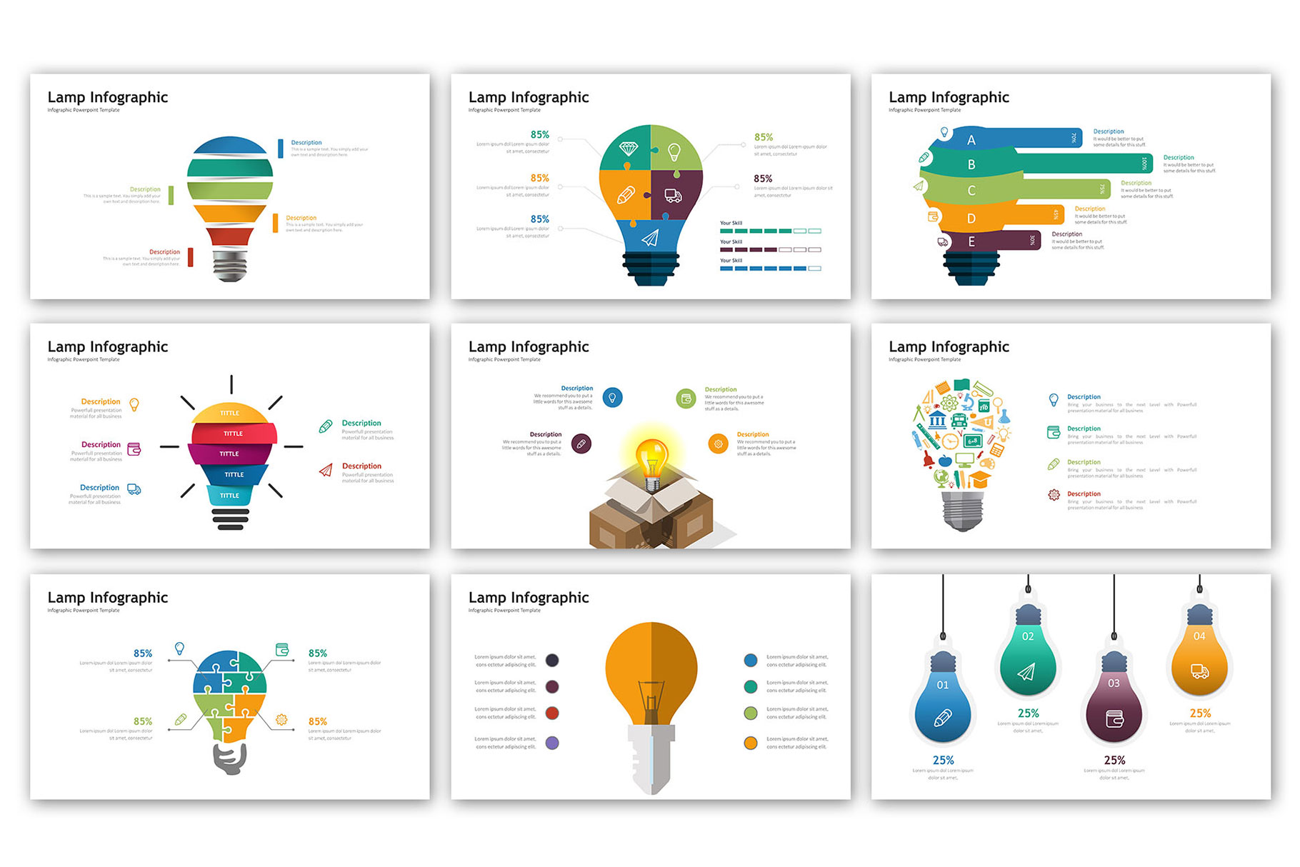 Lamp Presentation - Infographic Template example image 3