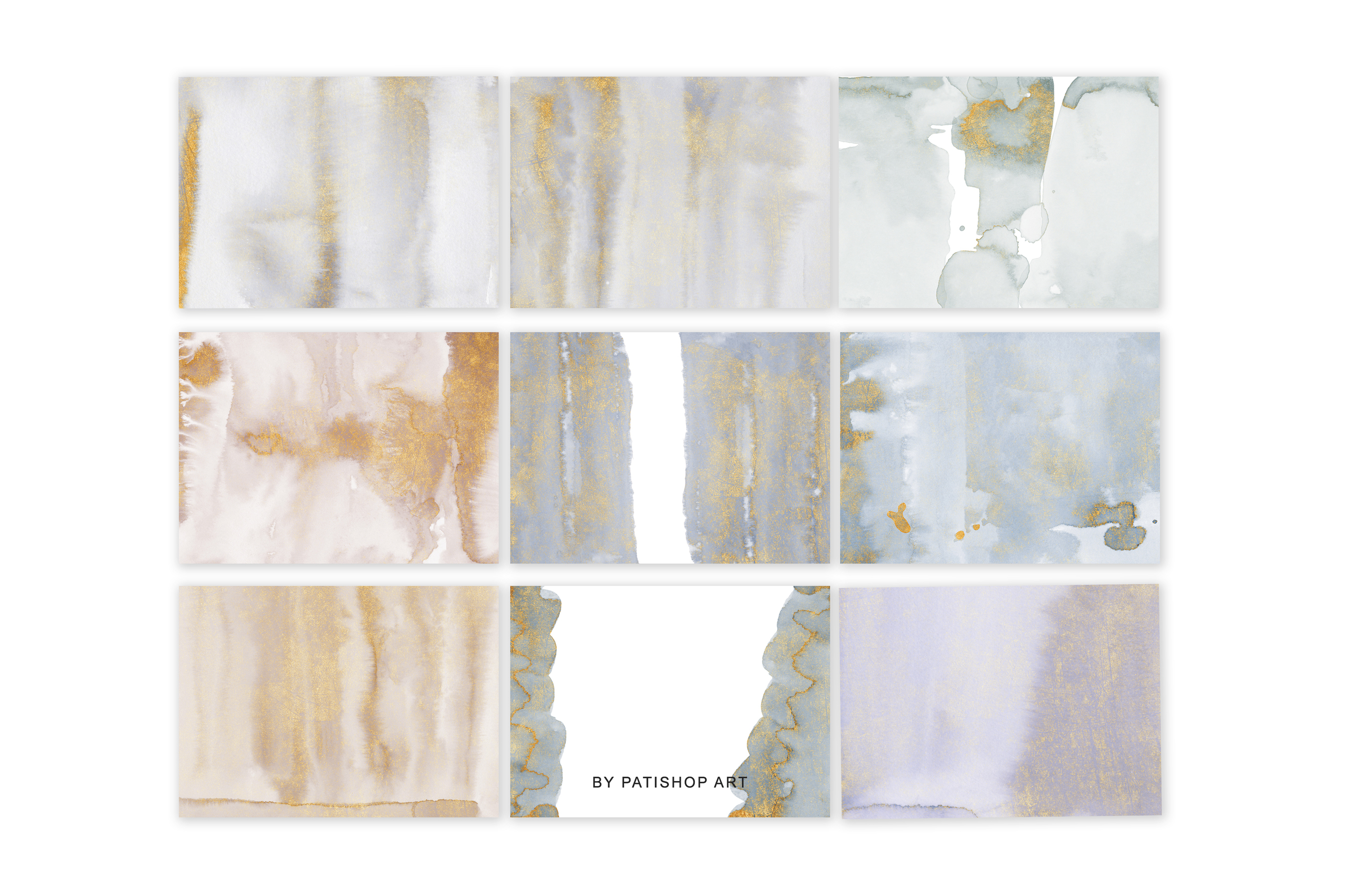 Watercolor Glittered Gray & Beige Background 5x7 example image 7