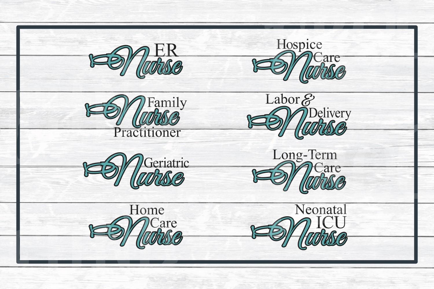 Nursing Titles, Types of Nurses Bundle SVG Cut Files example image 4