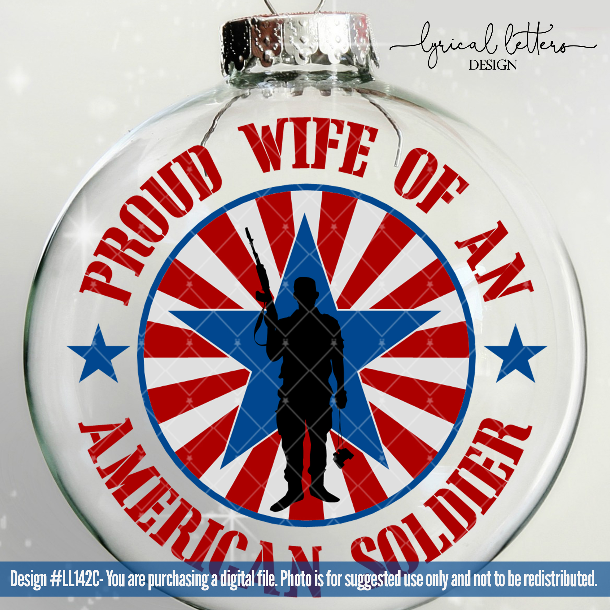 Proud Wife of a Soldier Military SVG Cut File LL142 C example image 2