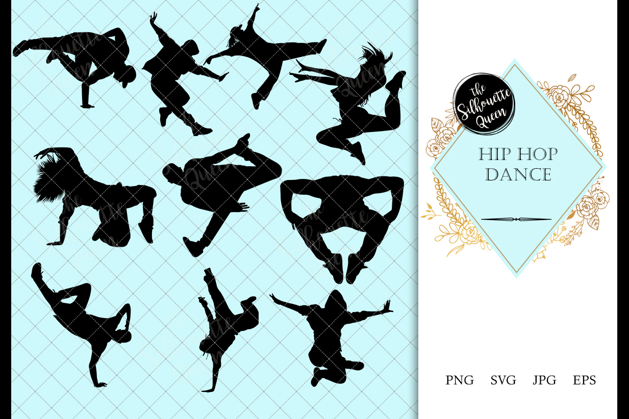 Hip Hop Dance Svg Dance Cricut Files Black Dancer Silhouet 142746 Illustrations Design Bundles