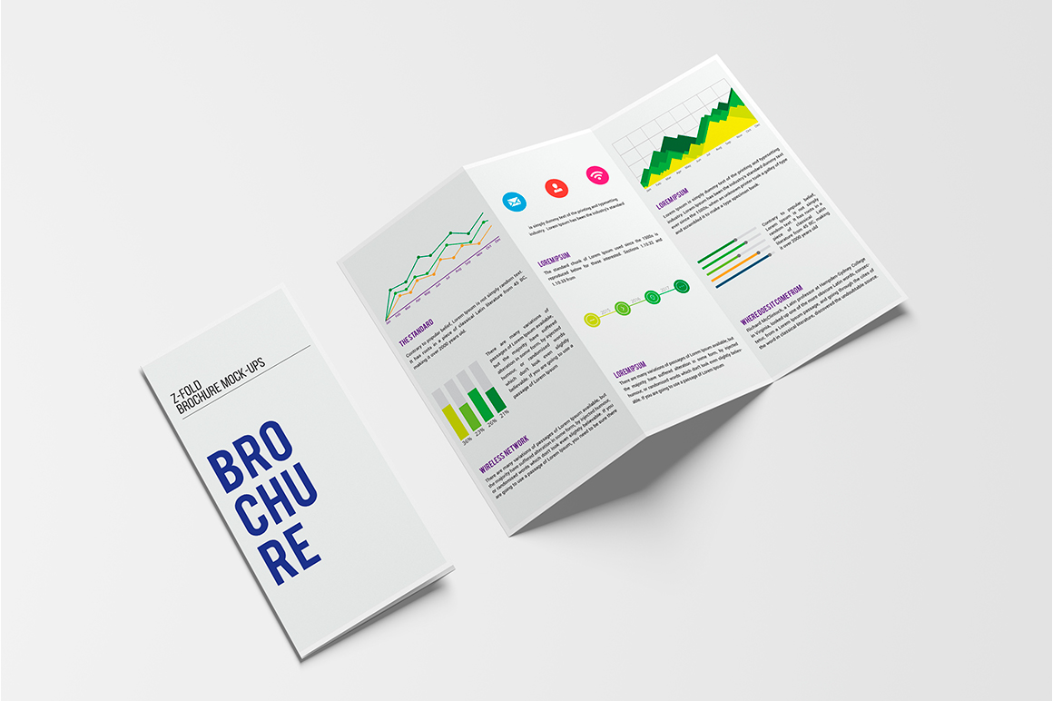 A4 Z-Fold Brochure Mock-Up example image 1