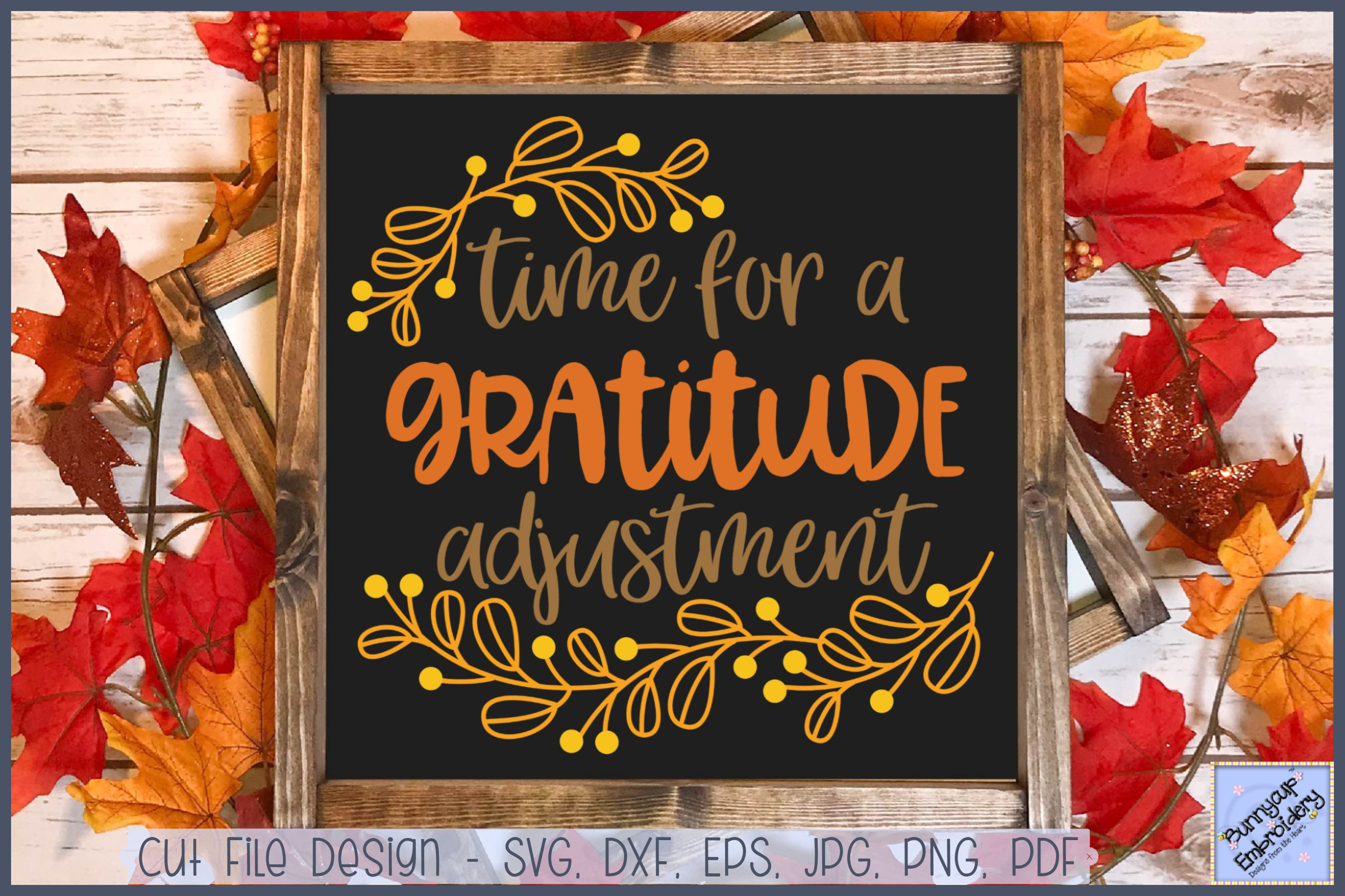 Time For A Gratitude Adjustment - SVG, Clipart, Printable example image 1