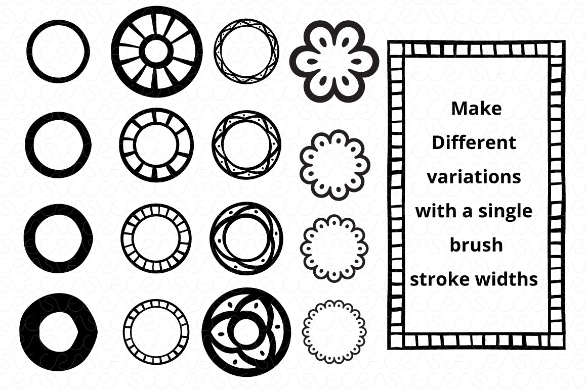 Vector Brushes - Handmade Tribal Style Graphics example image 8