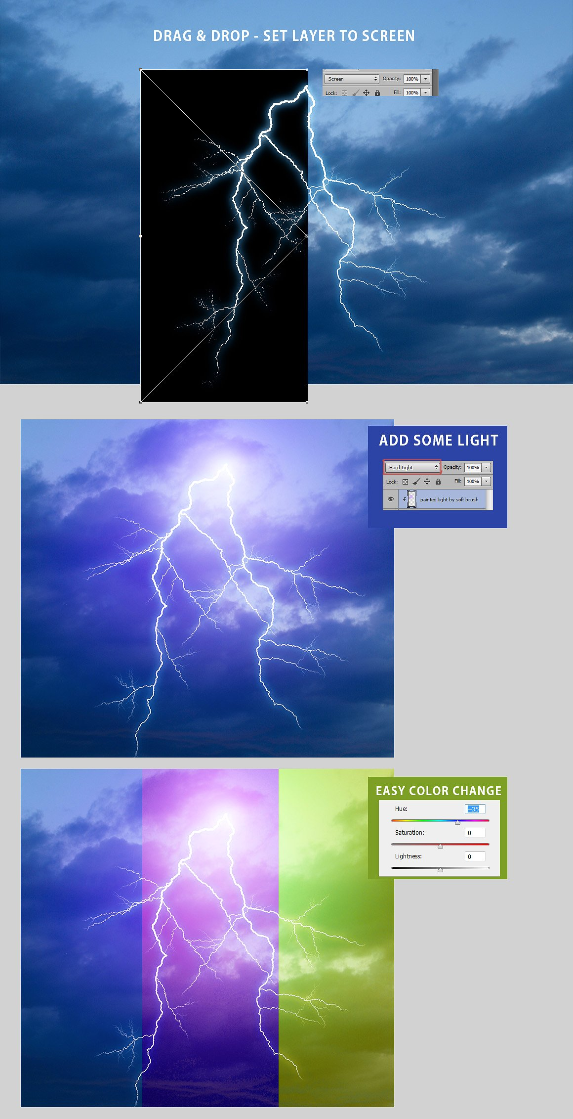 525 Rain, Snow, Lightning Overlays example image 2