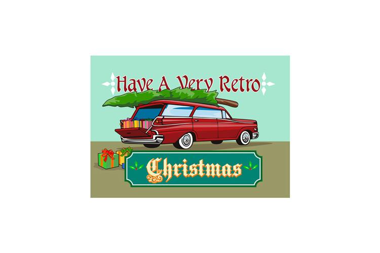 Retro Christmas Tree Station Wagon example image 1
