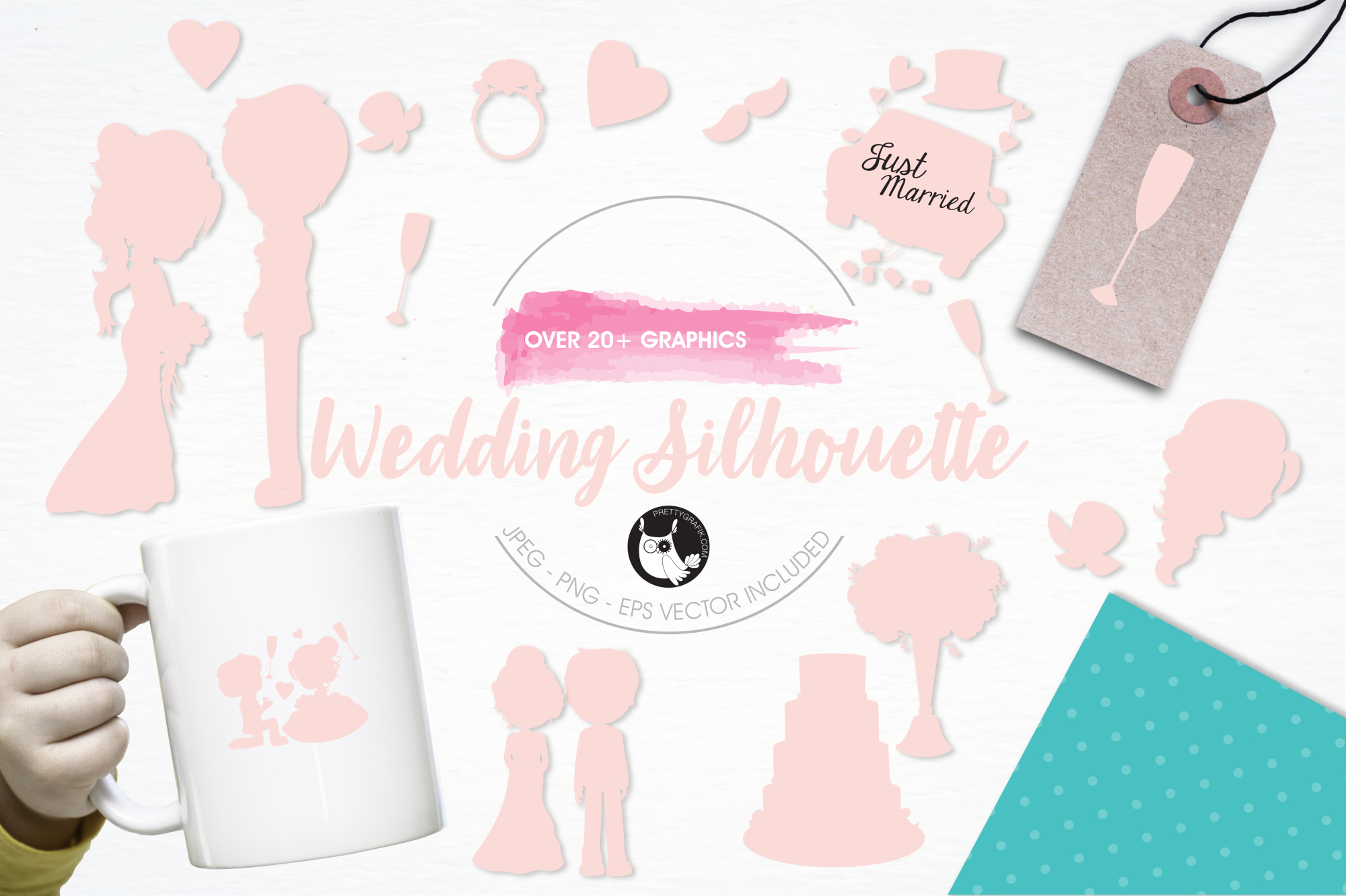 Wedding Silhouette graphics and illustrations example image 1