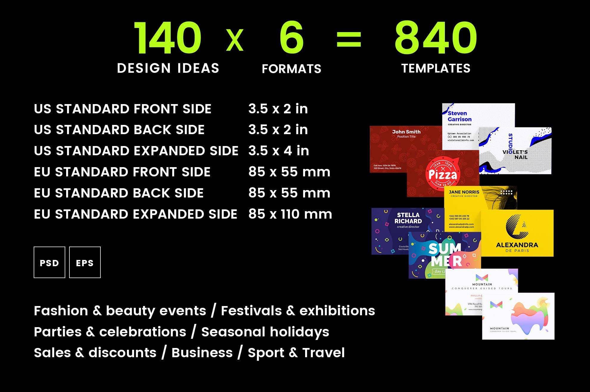 Business Card Design Templates Bundle SALE example image 2