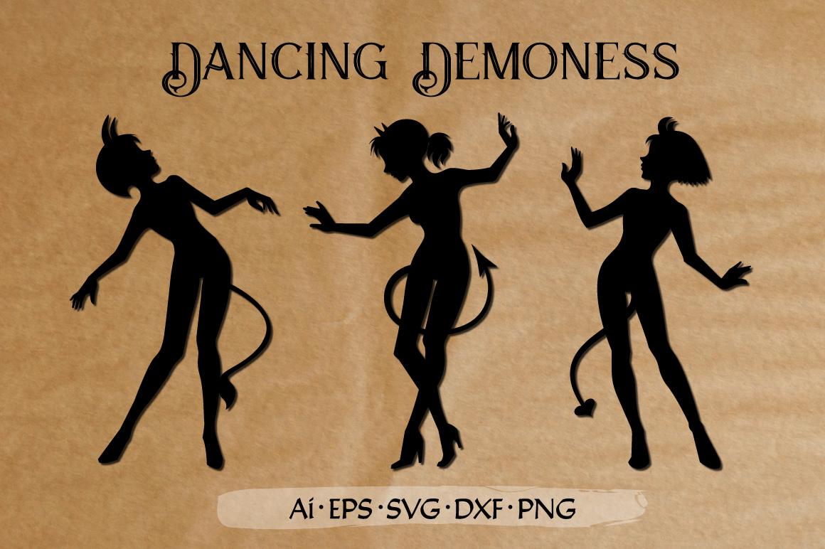 Dancing Demoness cut files set example image 1